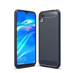 Θήκη Huawei Y5 (2019) OEM Brushed TPU Carbon Πλάτη TPU μπλε