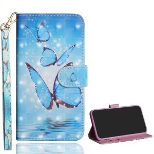 Θήκη Samsung Galaxy A10 OEM σχέδιο Blue Butterfly με βάση στήριξης