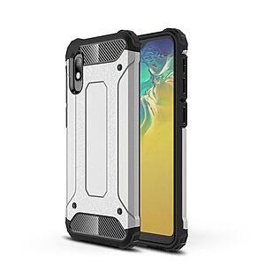 Θήκη Samsung Galaxy A10 OEM Armor Guard Hybrid Πλάτη από σκληρό πλαστικό Πλάτη TPU ασημί