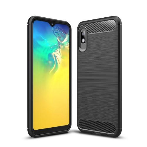 Θήκη Samsung Galaxy A10 OEM Brushed TPU Carbon Πλάτη TPU μαύρο