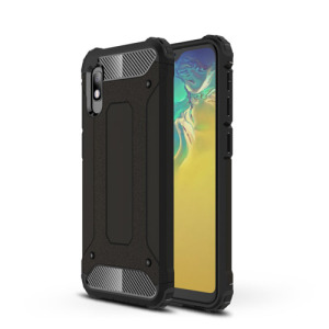 Θήκη Samsung Galaxy A10 OEM Armor Guard Hybrid Πλάτη από σκληρό πλαστικό Πλάτη TPU μαύρο