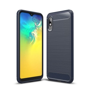 Θήκη Samsung Galaxy A10 OEM Brushed TPU Carbon Πλάτη TPU μπλε