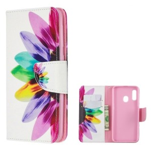 Θήκη Samsung Galaxy A20e OEM σχέδιο Colorful Petals με βάση στήριξης