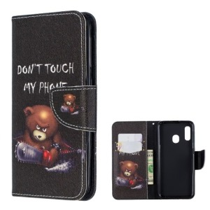 Θήκη Samsung Galaxy A20e OEM σχέδιο Angry bear with chainsaw με βάση στήριξης