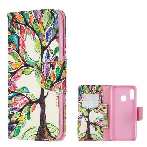 Θήκη Samsung Galaxy A20e OEM σχέδιο Colorized Tree με βάση στήριξης