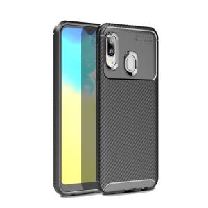 Θήκη Samsung Galaxy A20e OEM Airbag Carbon Series Πλάτη TPU μαύρο