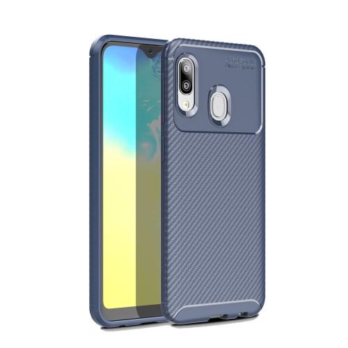 Θήκη Samsung Galaxy A20e OEM Airbag Carbon Series Πλάτη TPU μπλε