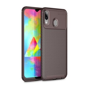 Θήκη Samsung Galaxy M20 OEM Airbag Carbon Series Πλάτη TPU καφέ