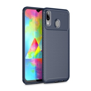 Θήκη Samsung Galaxy M20 OEM Airbag Carbon Series Πλάτη TPU μπλε