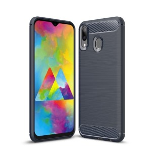 Θήκη Samsung Galaxy M20 OEM Brushed TPU Carbon Πλάτη TPU μπλε