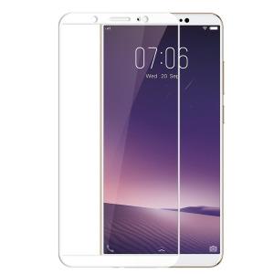 Full προστασία οθόνης tempered glass Πλήρους κάλυψης full glue 9H OEM 0.26mm για Xiaomi Redmi Note 6 Pro λευκό