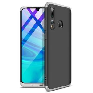 Θήκη GKK Full body Protection 360° από σκληρό πλαστικό για Honor 20 lite / Huawei P Smart+ (2019) μαύρο / ασημί