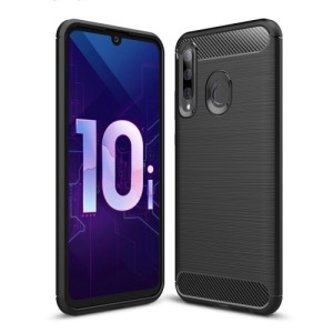 Θήκη Honor 20 lite OEM Brushed TPU Carbon Πλάτη μαύρη