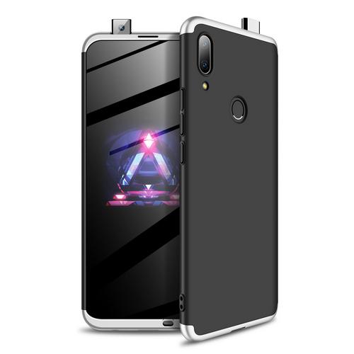 Θήκη GKK Full body Protection 360° από σκληρό πλαστικό για Huawei P Smart Z (2019) μαύρο / ασημί