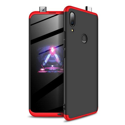 Θήκη GKK Full body Protection 360° από σκληρό πλαστικό για Huawei P Smart Z (2019) μαύρο / κόκκινο