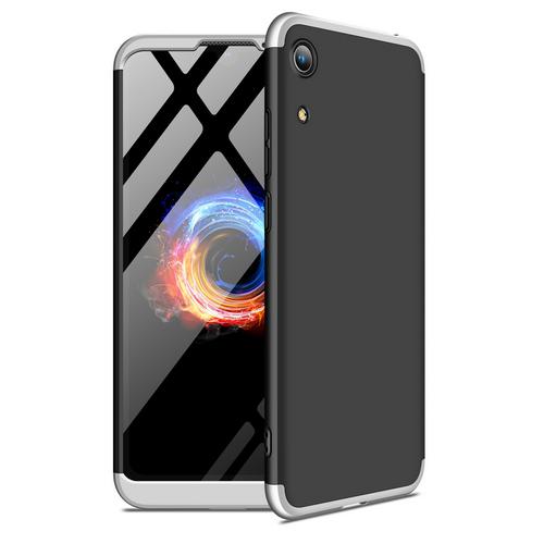 Θήκη GKK Full body Protection 360° από σκληρό πλαστικό για Honor 8A / Huawei Y6 (2019) μαύρο / ασημί