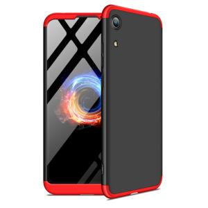 Θήκη GKK Full body Protection 360° από σκληρό πλαστικό για Honor 8A / Huawei Y6 (2019) μαύρο / κόκκινο