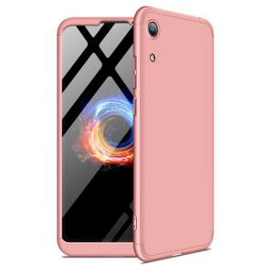 Θήκη GKK Full body Protection 360° από σκληρό πλαστικό για Honor 8A / Huawei Y6 (2019) ροζ χρυσό
