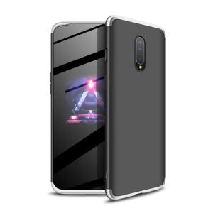 Θήκη GKK Full body Protection 360° από σκληρό πλαστικό για OnePlus 7 μαύρο / ασημί