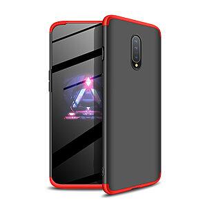 Θήκη GKK Full body Protection 360° από σκληρό πλαστικό για OnePlus 7 μαύρο / κόκκινο