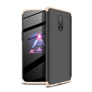 Θήκη GKK Full body Protection 360° από σκληρό πλαστικό για OnePlus 7 μαύρο / χρυσό