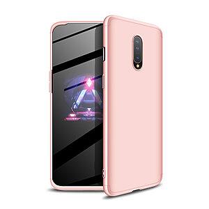 Θήκη GKK Full body Protection 360° από σκληρό πλαστικό για OnePlus 7 ροζ χρυσό
