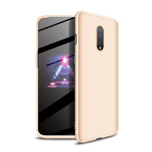 Θήκη GKK Full body Protection 360° από σκληρό πλαστικό για OnePlus 7 χρυσό