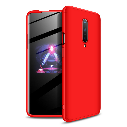 Θήκη GKK Full body Protection 360° από σκληρό πλαστικό για OnePlus 7 Pro κόκκινο