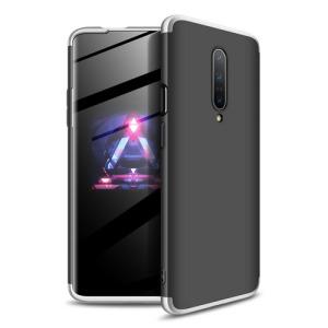 Θήκη GKK Full body Protection 360° από σκληρό πλαστικό για OnePlus 7 Pro μαύρο / ασημί