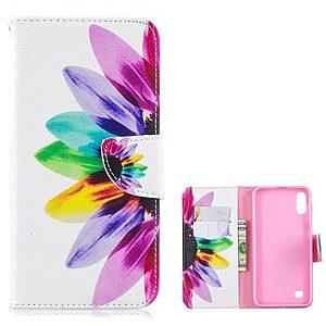 Θήκη Samsung Galaxy A10 OEM σχέδιο Colorful Petals με βάση στήριξης
