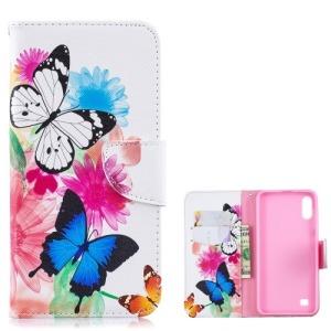 Θήκη Samsung Galaxy A10 OEM σχέδιο Vivid Butterflies με βάση στήριξης