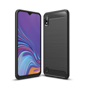 Θήκη Samsung Galaxy A10 OEM Brushed TPU Carbon Πλάτη μαύρη
