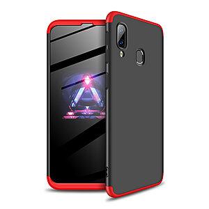 Θήκη GKK Full body Protection 360° από σκληρό πλαστικό για Samsung Galaxy A40 μαύρο / κόκκινο