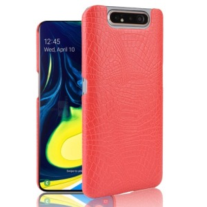 Θήκη Samsung Galaxy A80 OEM Crocodile Texture PU Leather Coated - Πλάτη δερματίνη κόκκινο