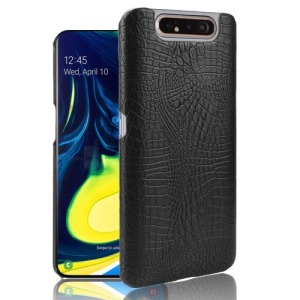 Θήκη Samsung Galaxy A80 OEM Crocodile Texture PU Leather Coated - Πλάτη δερματίνη μαύρο