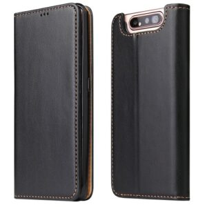 Θήκη Samsung Galaxy A80 OEM Leather Wallet Stand Flip Cell Shell Flip Wallet δερματίνη μαύρο