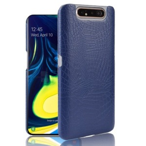 Θήκη Samsung Galaxy A80 OEM Crocodile Texture PU Leather Coated - Πλάτη δερματίνη μπλε