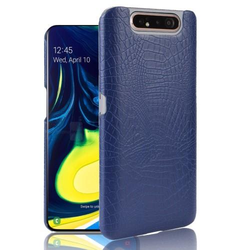Θήκη Samsung Galaxy A80 OEM Crocodile Texture PU Leather Coated - Πλάτη δερματίνη μπλε