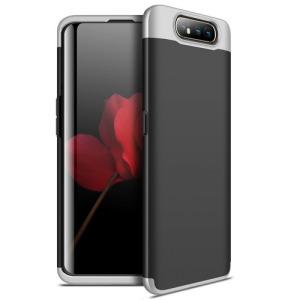Θήκη GKK Full body Protection 360° από σκληρό πλαστικό για Samsung Galaxy A80 μαύρο / ασημί
