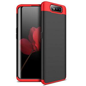 Θήκη GKK Full body Protection 360° από σκληρό πλαστικό για Samsung Galaxy A80 μαύρο / κόκκινο