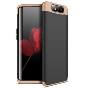 Θήκη GKK Full body Protection 360° από σκληρό πλαστικό για Samsung Galaxy A80 μαύρο / χρυσό