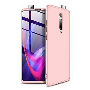 Θήκη GKK Full body Protection 360° από σκληρό πλαστικό για Xiaomi Mi 9T / Redmi K20 ροζ χρυσό