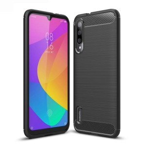 Θήκη Xiaomi Mi A3 OEM Brushed TPU Carbon Πλάτη μαύρη