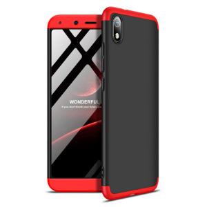 Θήκη GKK Full body Protection 360° από σκληρό πλαστικό για Xiaomi Redmi 7A μαύρο / κόκκινο