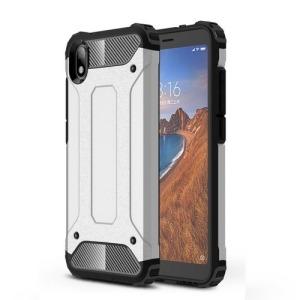Θήκη Xiaomi Redmi 7A OEM Armor Guard Hybrid Πλάτη από σκληρό πλαστικό και TPU ασημί
