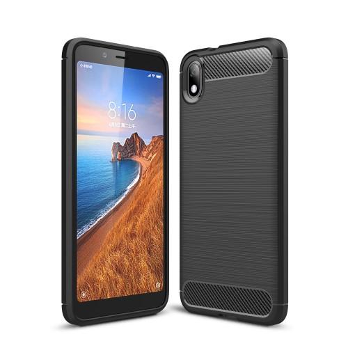 Θήκη Xiaomi Redmi 7A OEM Brushed TPU Carbon Πλάτη μαύρη