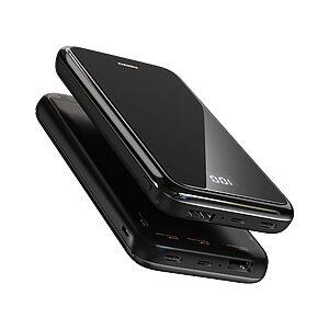 Ασύρματος Φορητός φορτιστής Wireless Power Bank REMAX Mirror RPP-133 10000mAh - μαύρο