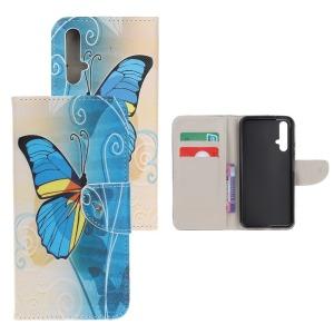 Θήκη Honor 20 OEM σχέδιο Blue Butterflies με βάση στήριξης