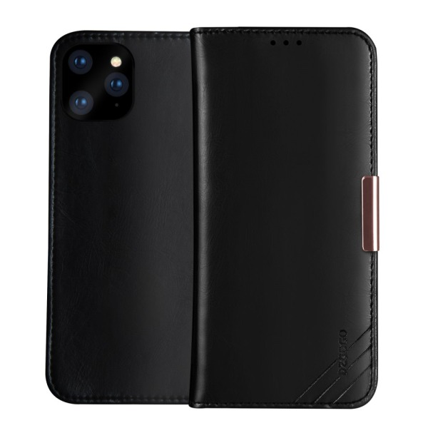 Θήκη iPhone 11 DZGOGO Royale Series II Genuine Leather Flip Wallet δερμάτινη μαύρο