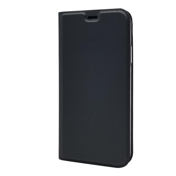 υποδοχή καρτών και μαγνητικό κούμπωμα Flip Wallet δερματίνη μαύρο